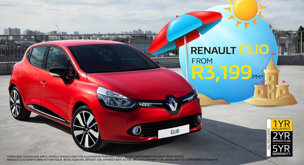 The Renault Clio from R3,199pm*