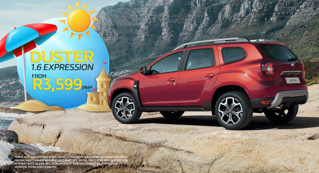 Renault Duster From R3,599pm*