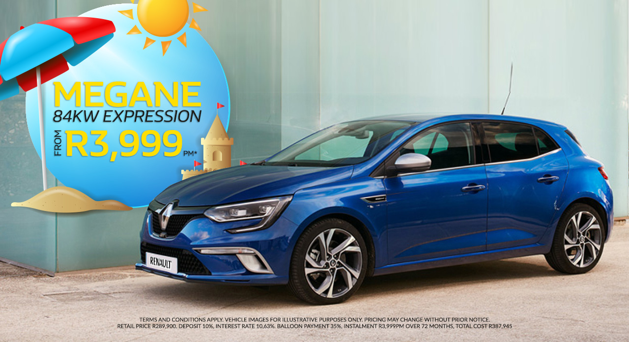 The Renault Megane From R3,999pm*