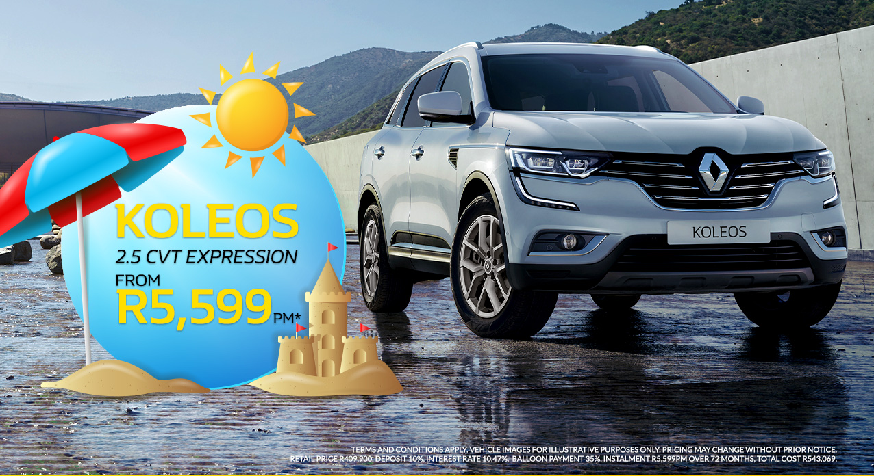The Renault Koleos from R5,599pm*