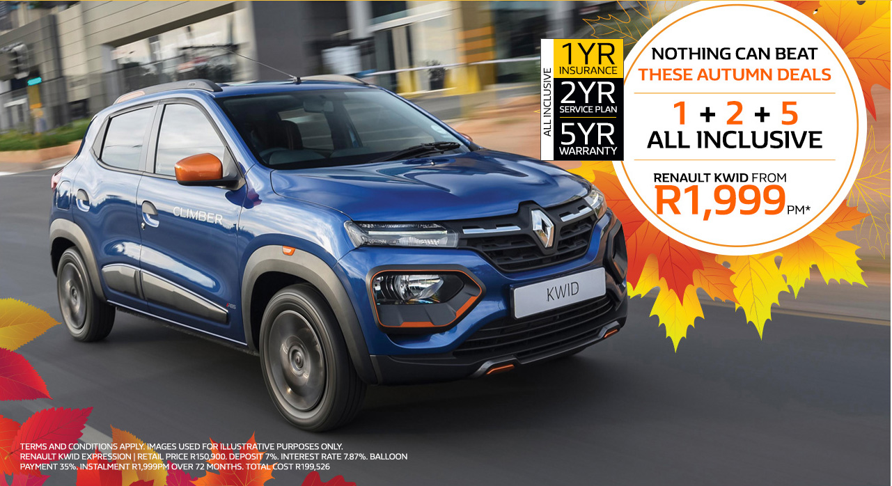 Renault Kwid from R1,999pm*