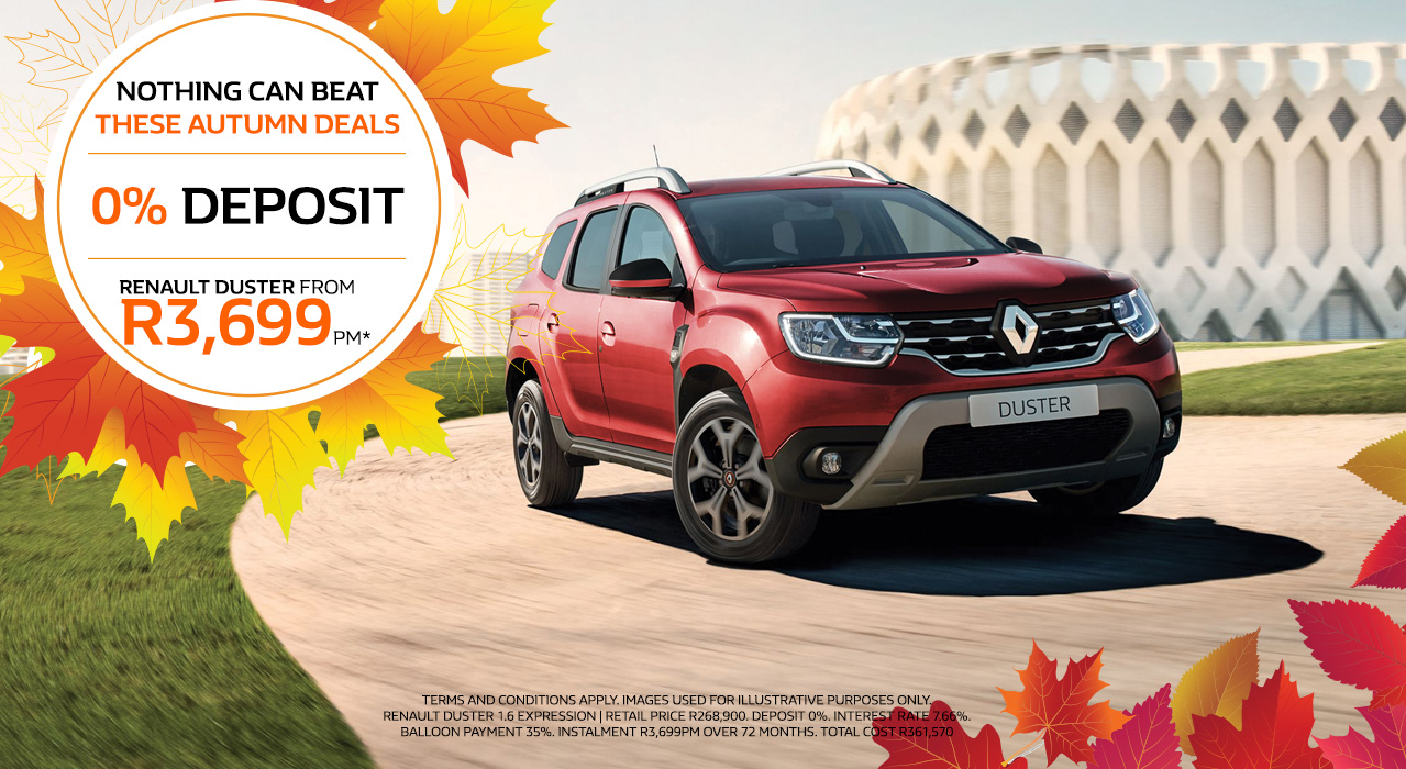 Renault Duster From R3,699pm*