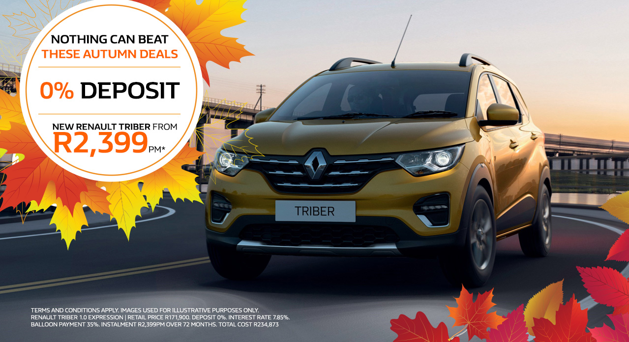 Renault Triber From R2,399pm*