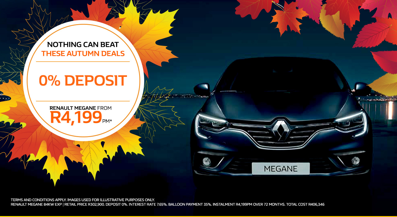 The Renault Megane From R4,199pm*