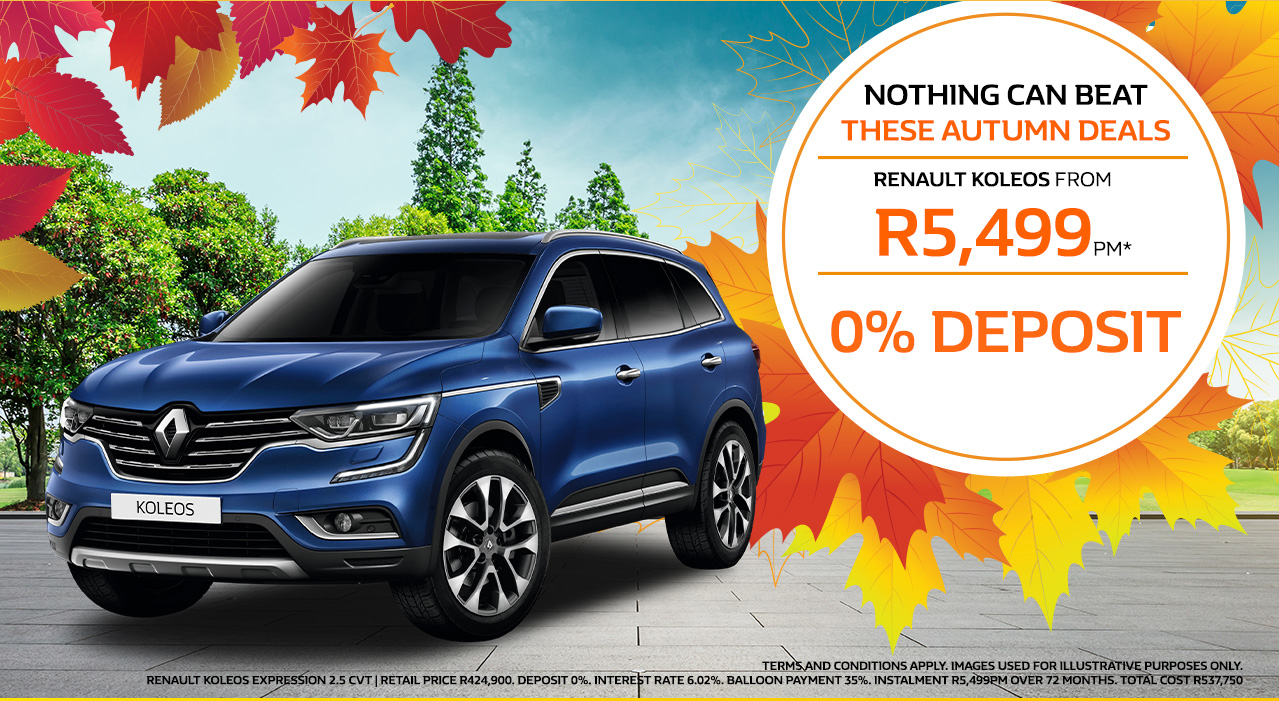 The Renault Koleos from R5,499pm*