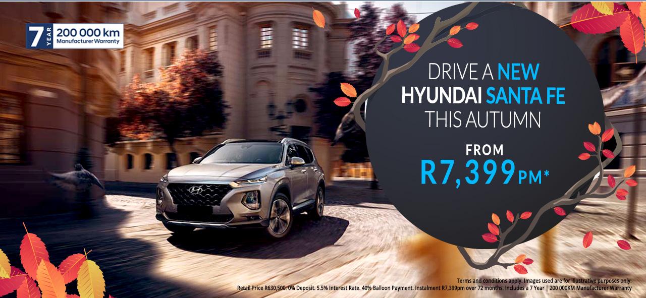 The Hyundai Santa Fe from R7,399pm*