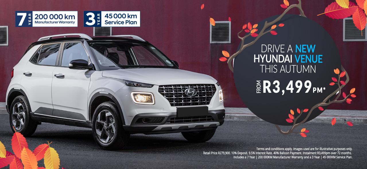 Hyundai Venue From R3,499pm*
