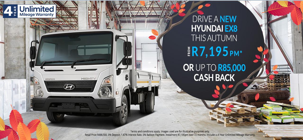 The Hyundai EX8 R85,000 Cash Back