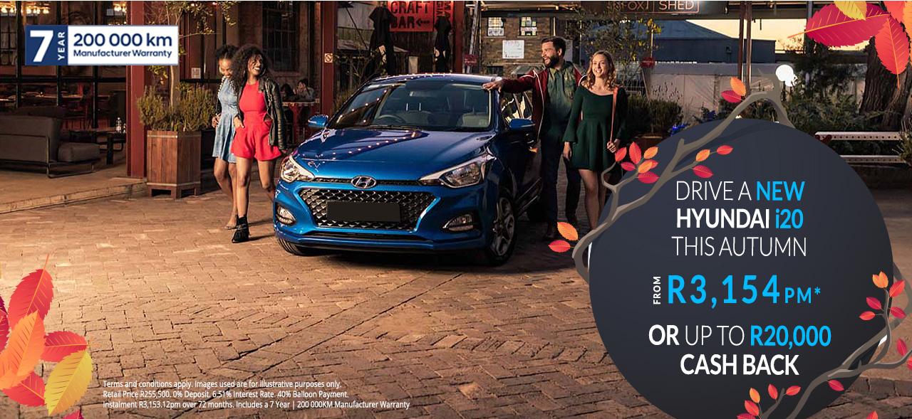 Hyundai i20 From R3,154pm*
