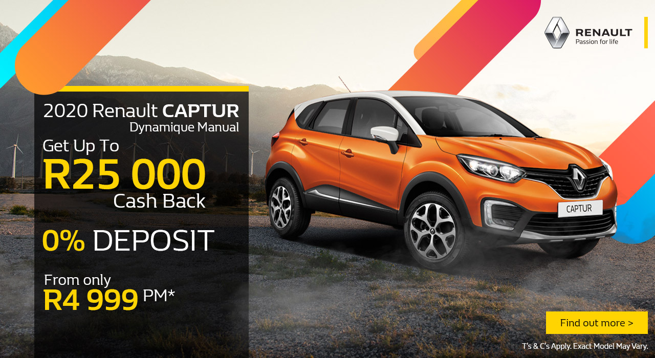 2020 Renault Captur from R4,999pm*