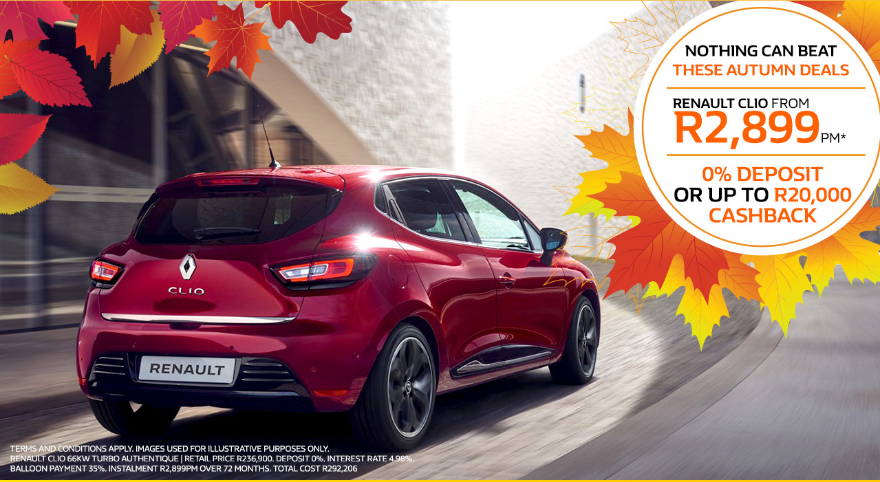 The Renault Clio from R2,899pm*