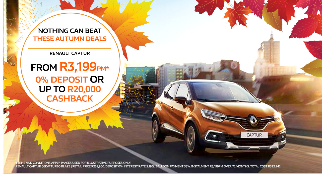 The Renault Captur from R3,199pm