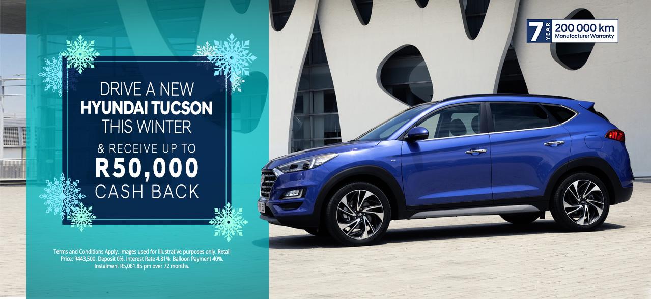The Hyundai Tucson R50,000 Cash Back