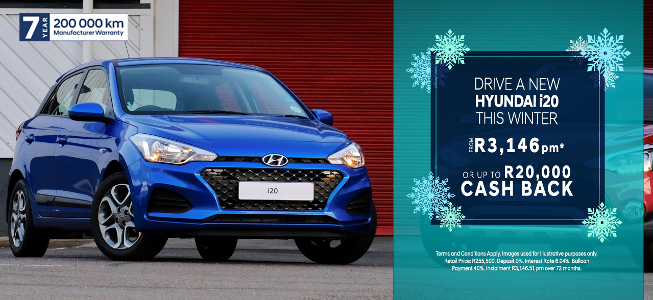 Hyundai i20 From R3,146pm*