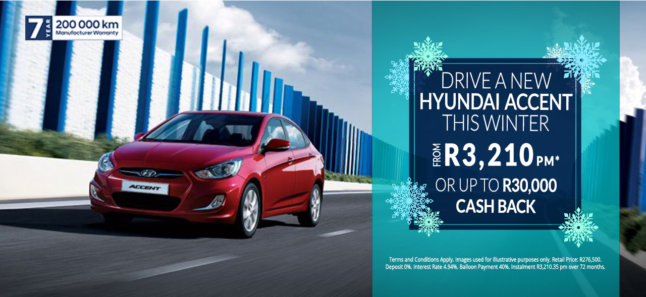 Hyundai Accent From R3,210pm*