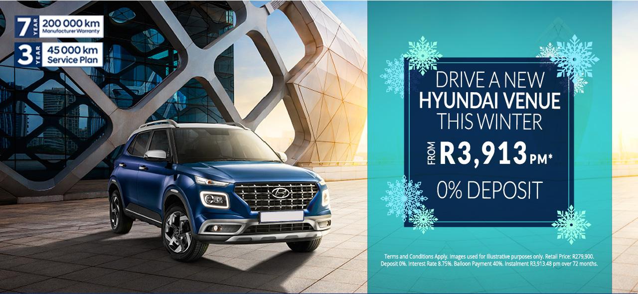 Hyundai Venue From R3,913pm*
