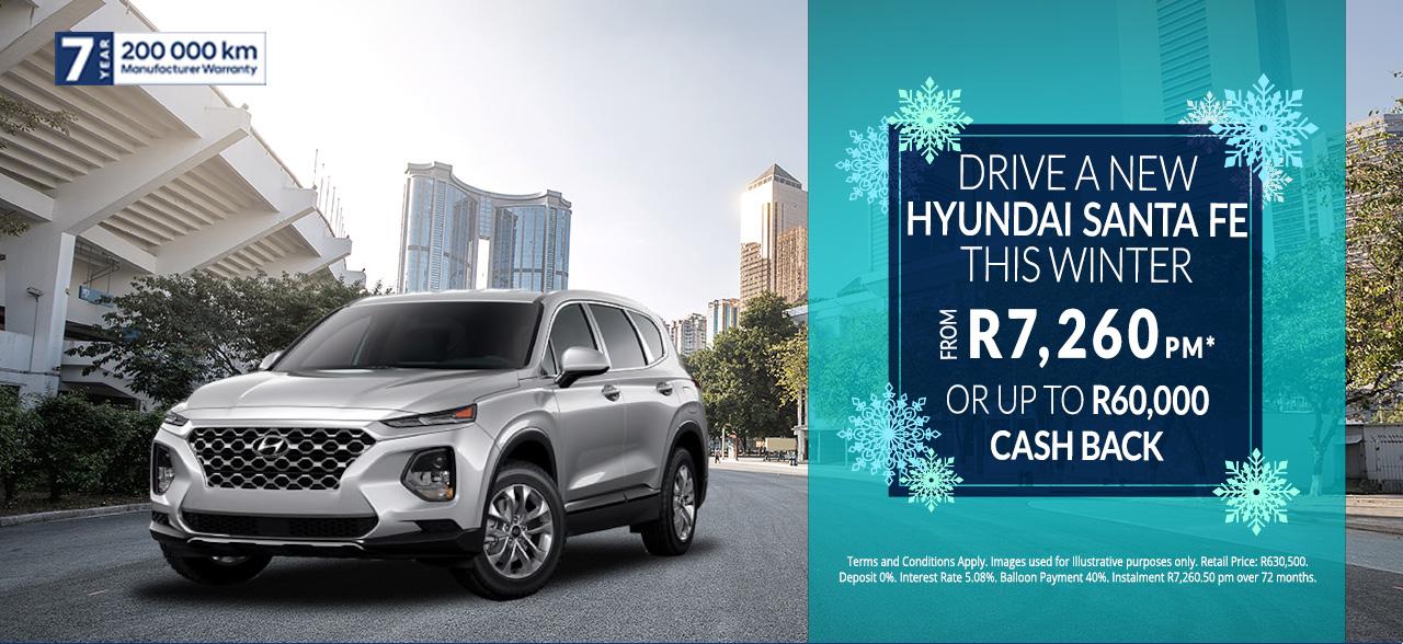 The Hyundai Santa Fe from R7,260pm*