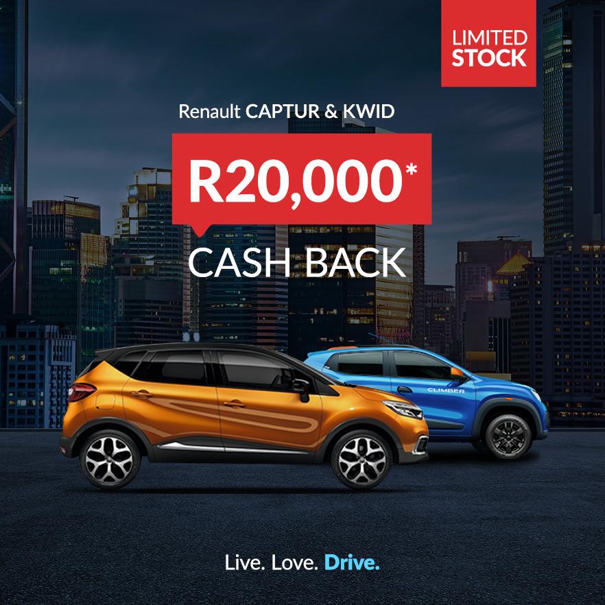 Renault R20,000 Cash Back Deals