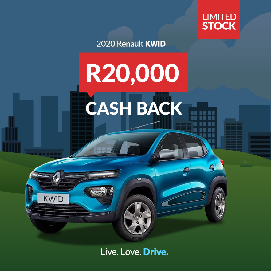 Renault Kwid R20,000 Cash Back Deals