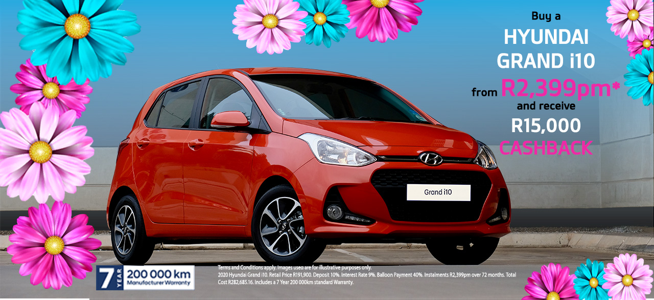Grand i10 And Receive R15,000 Cashback.