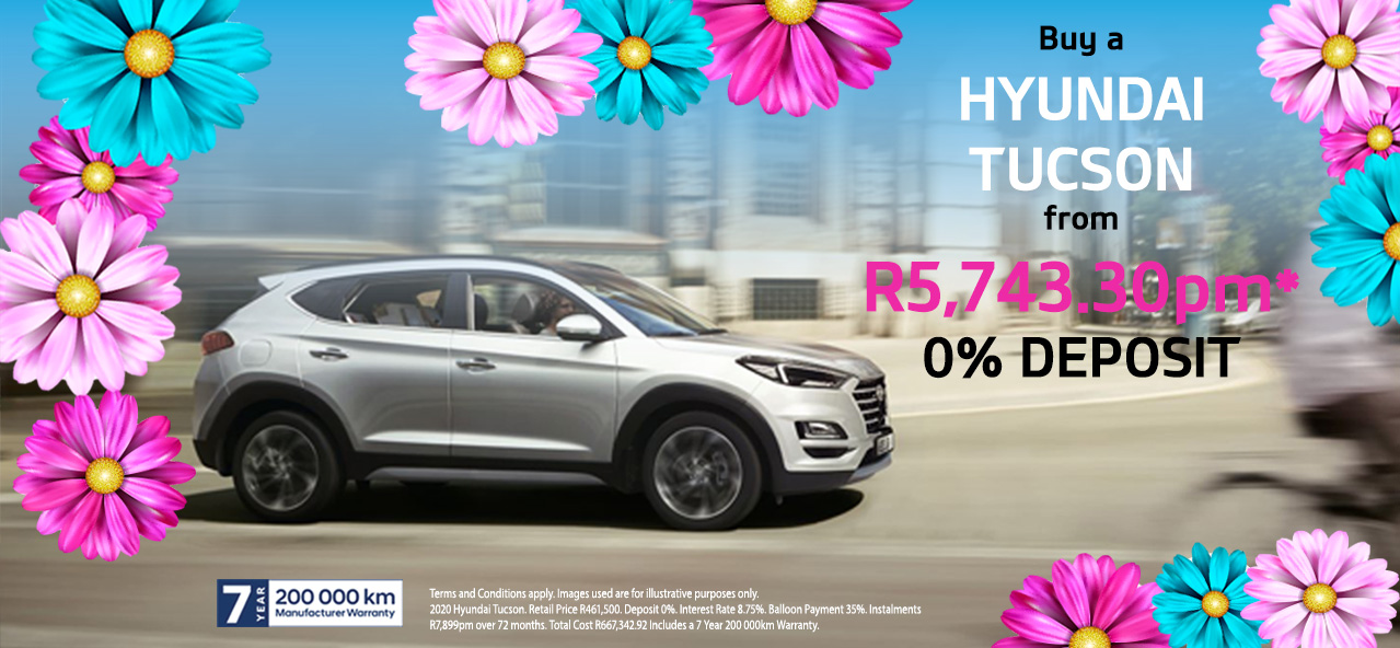 Buy a Hyundai Tucson From R5,743.30pm*