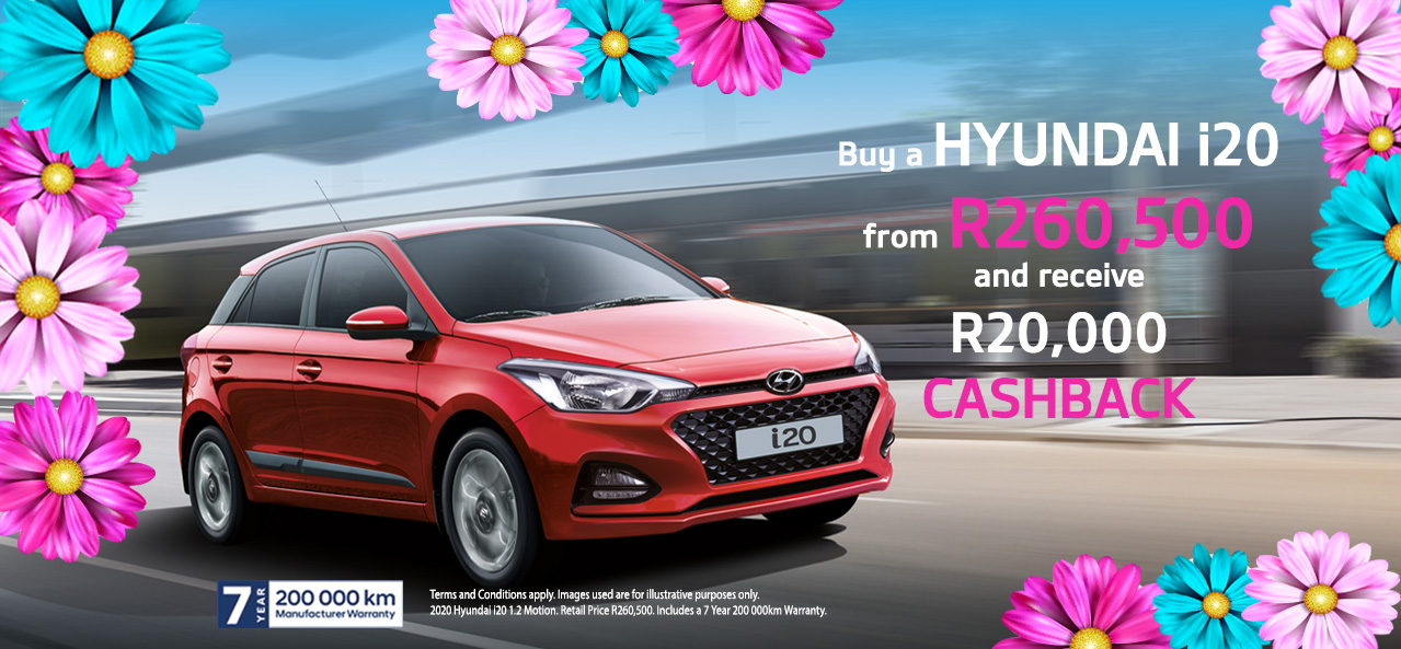Buy a i20 And Receive R20,000 Cashback
