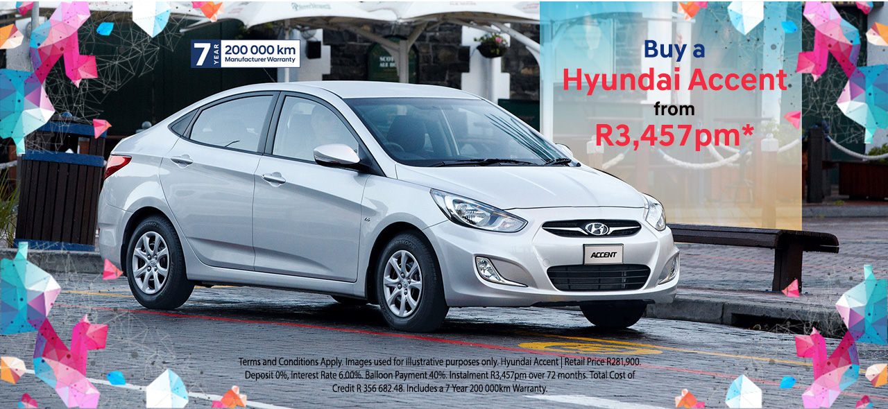Buy a Hyundai Accent From R3,457pm*