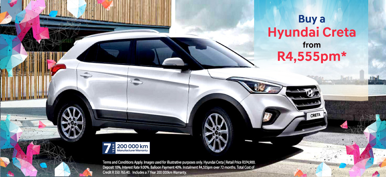 Buy a Creta From R4,555pm*