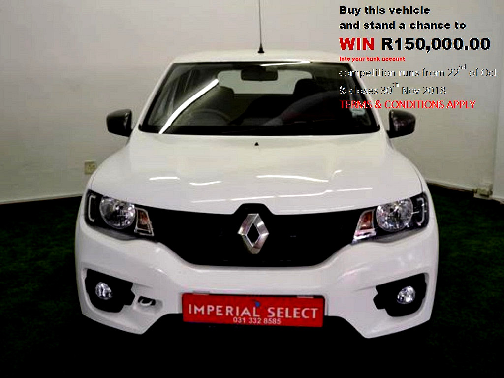 2018 KWID 50KW DYN AMT‑ Qualify for R 150,000 in our Mofember Renault Special competition in Durban